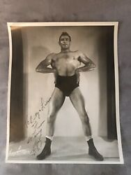 """Very Rare 1956""""henry Lopez"""" Personal Signed 8x10 Photo Original Awesome Pose 👀"""