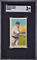 1909 CROFT'S CANDY E92 HONUS WAGNER THROWING SGC 3 NEW LABEL RARE CARD OF GREAT