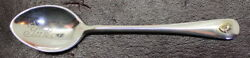 Charles Boyton And Sons Sterling Silver Yukon Spoon W/ Real Gold Nugget Inlaid