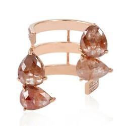 Pear Cut 5.67ct Diamond Between The Finger Ring 18k Rose Gold Jewelry Gift