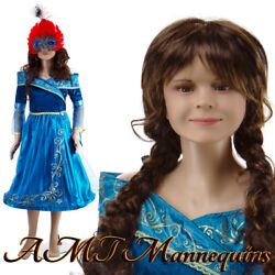 Female Realistic Mannequin+ Metal Stand, Full Body 11yrs Old Girl+1wig Pickup