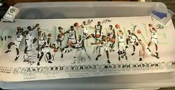 2016-17 Michigan State Spartans Signed Auto Mens Basketball Schedule Poster