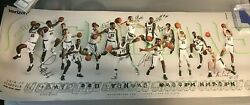 2016-17 Michigan State Spartans Signed Auto Mens Basketball Schedule Poster Msu