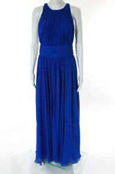 Badgley Mischka Collection Corundum Sapphire Gown Size 8 New $790 10190126