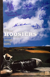 Gene Hackman And Hoosiers Cast Autographed 11x17 Converse Poster Asi Proof