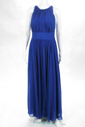 Badgley Mischka Collection Blue Corundum Sapphire Gown 790 Size 10 10297572