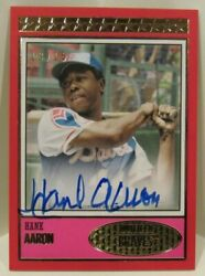 Hank Aaron 2018 Topps Brooklyn Collection Auto On Card Autograph 13/15 Red