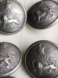 Antique Solid Silver Islamic Arabic 12 Militery Dress Buttons Sporrong Stockholm