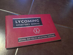 Lycoming Go-435-c2 Engine Operating Manual
