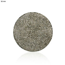 5.3ct Pave Diamond 925 Sterling Silver Disc Finding Vintage Look Fashion Jewelry