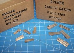 P38 And P51 Can Opener 10 Pack Usa Shelby Stainless Hiking Camping Scout Mess Kit