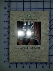 1994 1995 Land Rover Range Rover Color And Upholstery Guide Brochure Folder