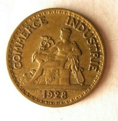 1928 France 50 Centimes - Excellent Coin - Free Ship - Bargain Bin 45