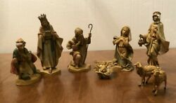Vintage Depose Fontanini Italy Nativity Christmas Set 9 Pieces With Spider Mark