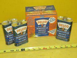 Vintage Delco Special 19 Windshield Washer Solvent 6oz 3 Cans And Box Oil Can Sign