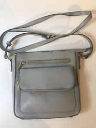 Women#x27;s Pale Gray Soft Crossbody Bag Purse A New Day 10x11x2.5quot; $17.95