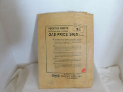 Nys Vtg Gas Staion Price Signage Sunoco B-7101