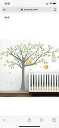 Baby Kids Wall Decal Bedroom Tree Owl Nursery Stickers Art Room Decor Removable