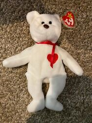 Original TY Valentino Beanie Baby (1993) Retired Rare with tag Errors!  PVC USED