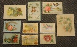 C1880s Chicago Illinois Trade Card Group - Florist Boots And Shoes Stieff Pianos