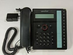 Talkswitch Ts-450i Ip Phone With Stand And Pwr Adapter - Works Nice