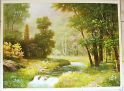 Exclusive North Korean Master Artist Oil Painting Wall Art Great Investment