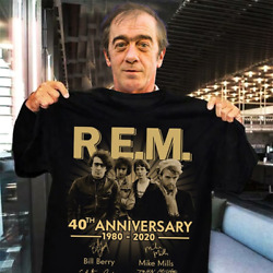 REM band 40th anniversary 1980-2020 member signed gift fan shirt size S-5XL $9.98