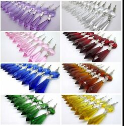 20 Pcs Lot Glass Crystals Chandelier Lamp Part Prisms Hanging Drop Pendants 3and039and039