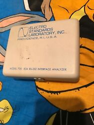 Electro Standards Laboratory Model 700 Eia Rs-232 Interface Analyzer In Case