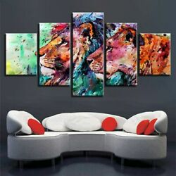 Abstract Colorful Animal 5 piece HD Poster Art Wall Home Decor Canvas Print