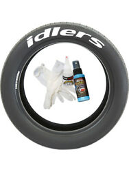4 X Tyre Stickers Peel And Stick Temporary Red Letters Idlers 1.25 17-18 Wheels