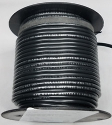 12 Ga Wire Primary 100 Copper Black 100 Ft Made In The Usa One Roll
