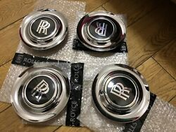 4 X Used Rolls Royce Ghost Wraith Dawn Complete Wheel Center Caps Oe 36136773460