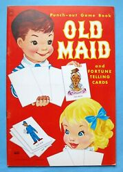 Vintage - Punch-out Old Maid And Fortune Telling Cards - 1966 - Lowe - Unused