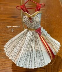 Miniature Art Paper Dresses 8 _ One Of A Kind _ Formal In Red With Hanger