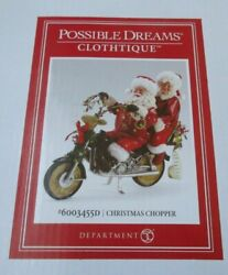 Dept 56 Possible Dreams New 2019 Christmas Chopper Santa And Mrs. Claus 6003455