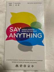 Say Anything 10th Anniversary Board Game 4-8 Players Ages 13+ 180 New Question