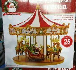 Mr. Christmas Very Merry Carousel - NIB New in Box Animated Plays 50 Songs!!!