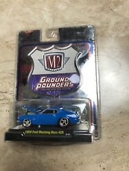 M2 Machines Ground Pounders 1969 Ford Mustang Boss 429 Blue 164 Toy Car