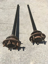 1956 Cadillac Rear End Axle Shafts Left And Right Pair Studs Flanges Bearing 55