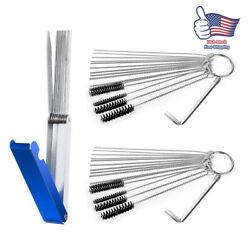 45pack Carburetor Carb Cleaning Tool Brushes+needles+wire Kit Fit Motorcycle Atv