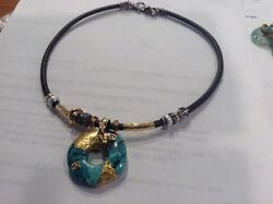 Gorgeous Misani 18k Sterling Pearl Diamond And Turquoise Necklace Orig. 8000