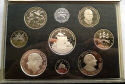 Jamaica 1989 Columbus' Discovery Mint Box Set Of 9 Coins,proof