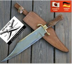 """Custom Damascus Bowie Knives, Forged , Iron Mistress Blade Weapon 14 """""""