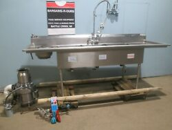 M And E Hd Commercial Nsf 100l 3 Compartment Ss Sink W/erator, Rinse Sprayer