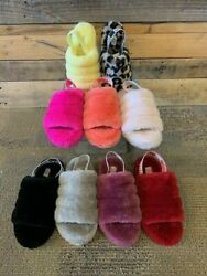 UGG FLUFF YEAH SLIPPERS SLIDES SHOES PICK SIZE & COLOR!