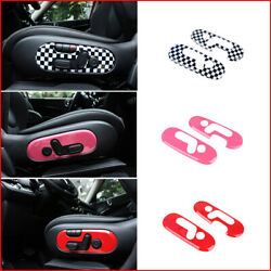 For Mini Cooper F60 Car Front Seat Adjustment Switch Button Covers Stickers Abs