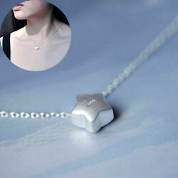 925 Silver Lovely Star Pendant Charm Chain Little Women Jewelry Necklace Gift