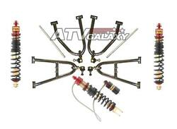 Lone Star +2 A-arms And Elka Shocks Front + Rear Yamaha Raptor 660