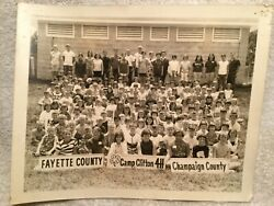 Vtg. Photo Kids At Camp Clifton 4h Greene County Ohio Fayette And Champaign County